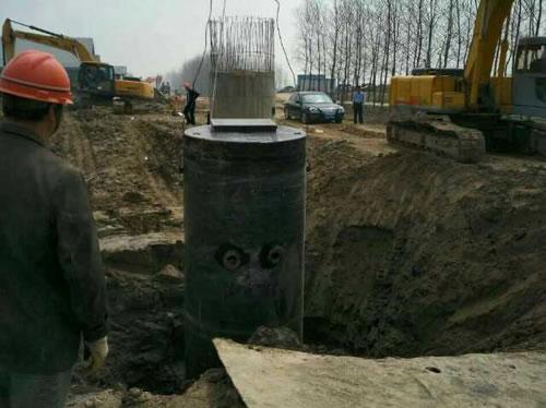 一体化预制泵站安装现场
